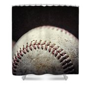 Home Run Ball Shower Curtain by Lisa Russo