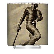 Home Run Shower Curtain by Bill Cannon