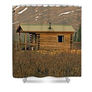 Home Sweet Fishing Home In Alaska Shower Curtain