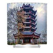 Wuyun Tower Shower Curtain
