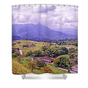 Home Town Mountains Shower Curtain