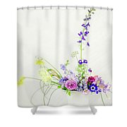 Homegrown Floral Bouquet Shower Curtain