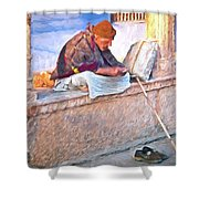 Homeless Man In India Shower Curtain