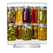 Homemade Preserves And Pickles Shower Curtain