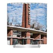 Homer Hamilton Theatre Sign Shower Curtain