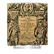 Homer Title Page, 1616 Shower Curtain