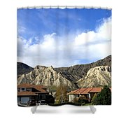 Homes And Hoodoos Shower Curtain