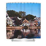 Homes On Kennebunkport Harbor Shower Curtain