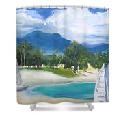 Homesick For Hawaii Shower Curtain