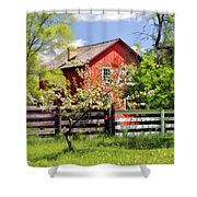 Homestead At Old World Wisconsin Shower Curtain