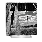 Homestead Shower Curtain by Bob Christopher