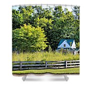 Small Farm Homestead Shower Curtain