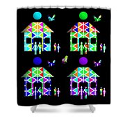 Homestead Happiness Shower Curtain