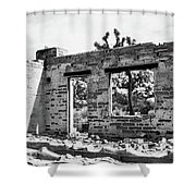Homestead Ruins Shower Curtain