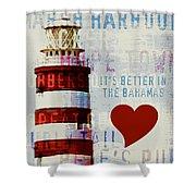 Hometown Bahamas Lighthouse Shower Curtain