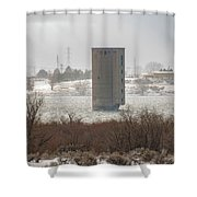 Hometown Landmark Shower Curtain