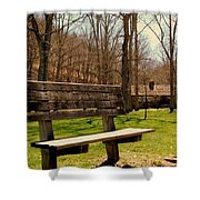 Hometown Series - Have A Seat Shower Curtain
