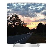 Homeward Bound Evening Sky Shower Curtain