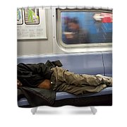Homeless In Motion Shower Curtain