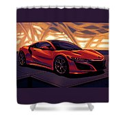 Honda Acura Nsx 2016 Mixed Media Shower Curtain