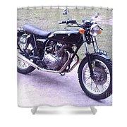 Honda Cb360t 1976 Shower Curtain