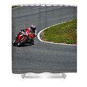 Honda Takes Turn 11 No 1 Shower Curtain