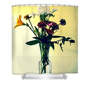 Honey Creek Flowers Shower Curtain by Tom Zukauskas