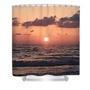 Honey Moon Island Sunset Shower Curtain