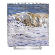 Honey Wave Shower Curtain