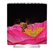 Honeybee In Flight 010 Shower Curtain