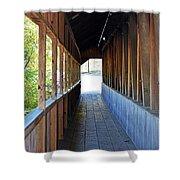 Honeymoon Bridge Sidewalk Shower Curtain