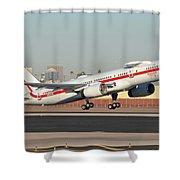Honeywell Boeing 757-225 N757hw Phoenix Sky Harbor January 14, 2016 Shower Curtain