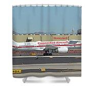 Honeywell Boeing 757-225 N757hw Phoenix Sky Harbor September 30 2017 Shower Curtain