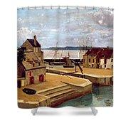 Honfleur  Houses On The Quay Shower Curtain
