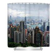 Hong Kong After Rain Shower Curtain