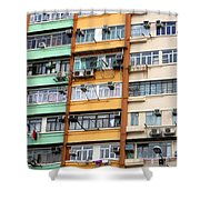Hong Kong Apartment 9 Shower Curtain