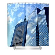 Hong Kong Architecture 58 Shower Curtain