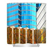 Hong Kong Architecture 6 Shower Curtain