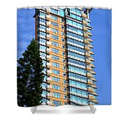 Hong Kong Architecture 77 Shower Curtain