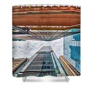 Hong Kong Buildings Colour Shower Curtain