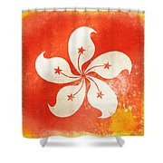 Hong Kong China Flag Shower Curtain by Setsiri Silapasuwanchai