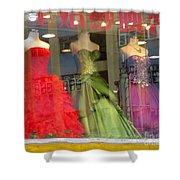 Hong Kong Dress Shop Shower Curtain