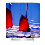 Hong Kong Lights Shower Curtain by Ray Laskowitz - Printscapes