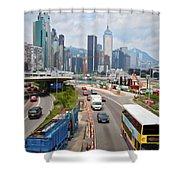 Hong Kong Traffic II Shower Curtain