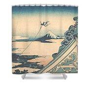Honganji At Asakusa In Edo Shower Curtain