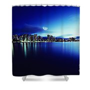Honolulu At Night Shower Curtain