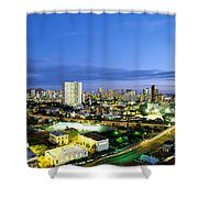 Honolulu City Lights Shower Curtain