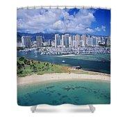 Honolulu, Oahu Shower Curtain