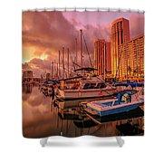 Honolulu Waterfront Oahu Shower Curtain