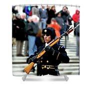 Honor Guard At Arlington Cemetery Shower Curtain